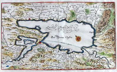 Lacus Podamicus; anonymer kolorierter Kupferstich um 1640; Wiki Commons