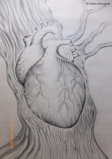 Das menschliche Herz im Baum