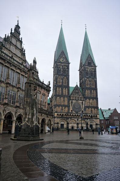 Was geht in Bremen? Der Marktplatz mit Rathaus und Dom