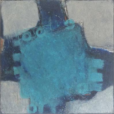 """HYBRID"" - Leinwand, 50 x 50 cm, Mischtechnik - Christiana Sieben"