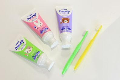 子供が歯磨き好きになるフッ素入り歯磨き粉