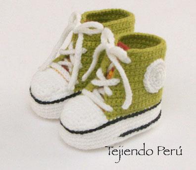 Zapatillas O Sneakers Perú Para Tejiendo Bebes by7g6f