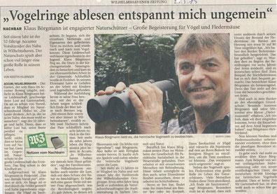 Wilhelmshavener Zeitung v. 23.3.2013