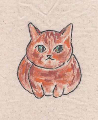 猫イラスト・猫・茶トラ
