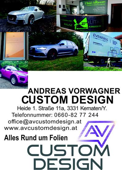 Beratung Design KFZ Gebäude Di-Noc Möbelveredelung Fahrzeugveredelung AV Custom Design