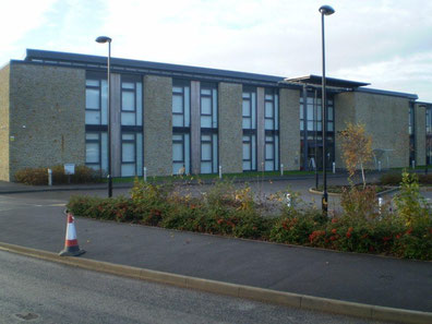 Council Offices for Somerset CC - Traditional building stone within a modern building