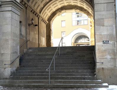 Treppe Rathaus Plauen