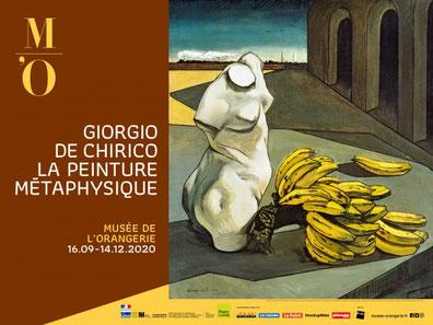 Exposition Giorgio de Chirico Musée Orangerie Paris