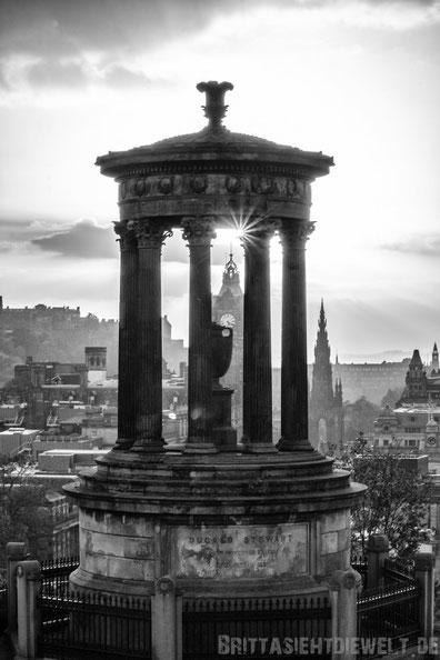 Edinburgh,Carlton,hill,Sundown,monochrom,schottland,herbst,oktober,tipps,sehenswürdigkeiten,Panorama,Aussicht,view.