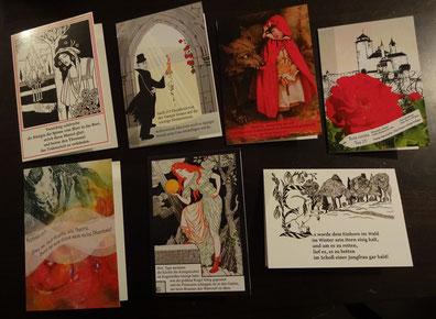 Eine Märchenkarte des Machandel Verlages