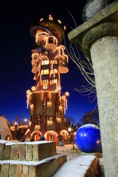 Kuchlbauer Turm ein Hudnertwasser Architekturprojekt geplant und bearbeitet von Architekt Peter Pelikan  @ Brauerei zum Kuchlbauer GmbH & Co KG, Abensberg