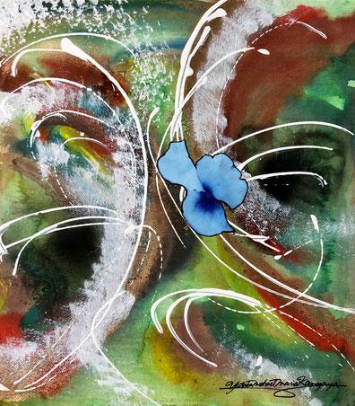 「花の魂」54.5cm×78.8cm