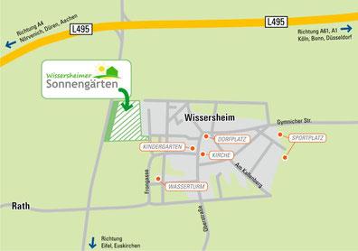 Lage in Wissersheim