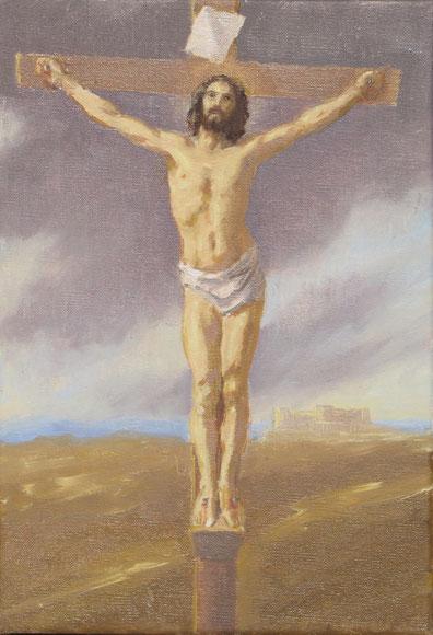 Tony Wahlander (Wåhlander)  Jésus cloué sur la croix, Nouveau Testament