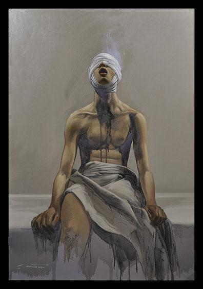 Lobotomie - Huile sur toile 130x89