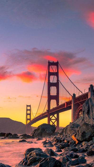 Golden Gate Bridge, San Francisco USA.