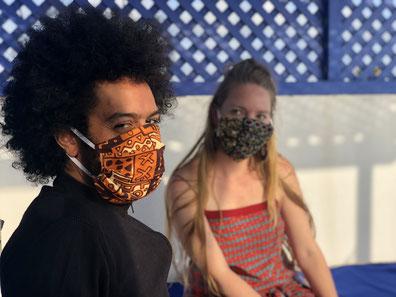 Jolis Masques en tissus - Masque de protection en wax - Normes Afnor
