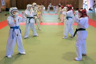空手道 禅道会/武道空手少年クラブでは、下は3歳児から上は60歳代の方まで三百余名が武道の稽古に励んでいます。