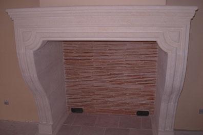 création d'une cheminée en pierres