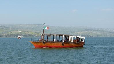 Het meer van Galilea of Tiberias