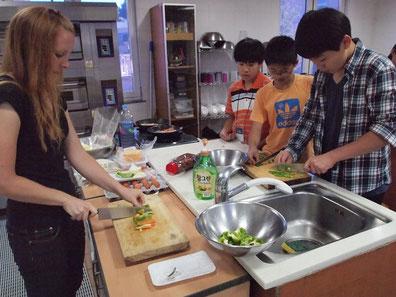 英語村プログラム料理実習