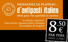 plateau d'antipasti italien à partager - 8€ par personne