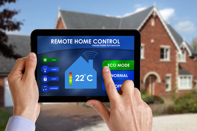 Tablet mit Smart Home Control