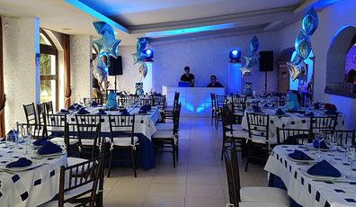 Dj para fiestas en salón  de hacienda Coyoacan durante un cumpleaños
