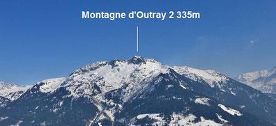 Montagne d'Outray depuis Hauteluce - Les Saisies