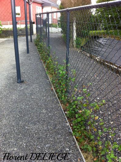 Aménagement extérieur bordures clôtures jardin terrasse Liège