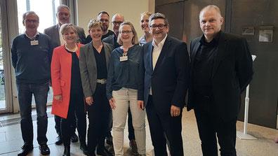 Förderverein TKNRW e.V. zu Besuch im Landtag NRW bei der SPD,  mit dem Kammerbeauftragtem des ZVK, NRW