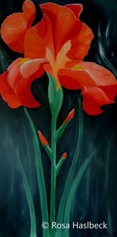 acrylbild, acryl, bild, menschen, kunst, bild, malen, malerei, orange, grün, blau, weiß, gelb, dekoration, wandbild,