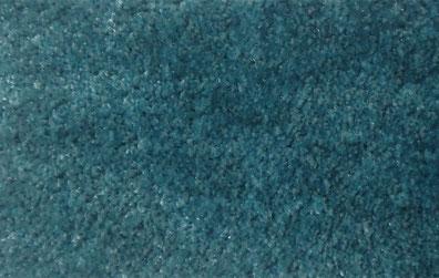 Alfombra de pelo corto color azul verdoso