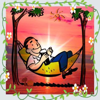 Langeweile Muße Nietzsche Freizeit Auszeit Freizeit Hängematte Boreout Unterforderung Achtsamkeit Geduld Fernsehprogramm Milchozean Surfer Pause ausruhen easy living erholen Freizeit genießen Auszeit Seele baumeln lassen