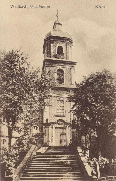 Weilbacher Kirche (mit altem Treppenaufgang)