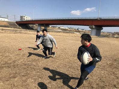 2019/02/17/名古屋市内でのラグビー練習/大輔のパス