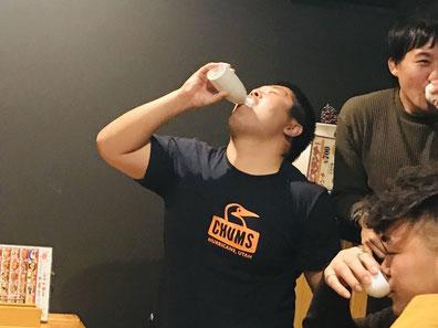 荒が日本酒1合一気飲み