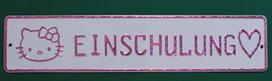 Schild Einschulung Schild in pink