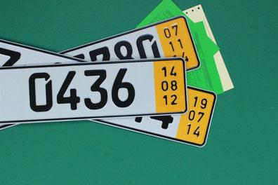 Kurzzeitkennzeichen, Überführungskennzeichen, 5 Tage Kennzeichen