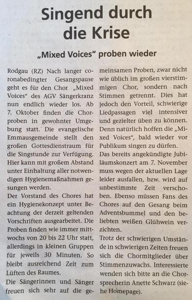 aus der Rodgau Zeitung vom 09.10.2020
