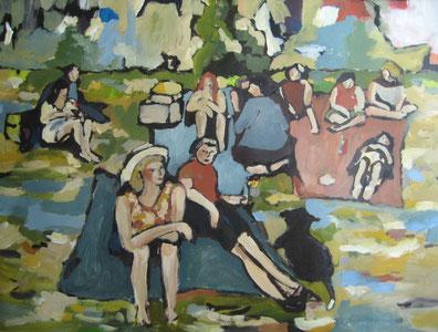 Picknick, 100x80cm, copyright Maria Zumholz