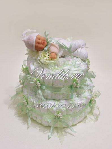 """Торт из памперсов """"New Baby""""  (из коллекции """"Сладкий сон"""")"""