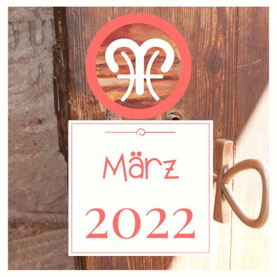 März 2021 - die Zeitqualität im Blog von Eva Hochstrasser