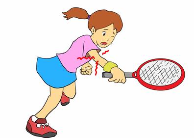 テニスのバックハンドで発生する外側上顆炎(テニス肘)