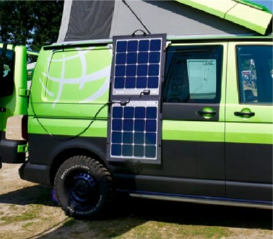 Mobile solar module in your pocket for flexible use when camping. Also ideal for campers, mobile homes, sailing boats and vans. SOLARA solar modules have been tried and tested technology for over 20 years and have passed all of the renowned tests.