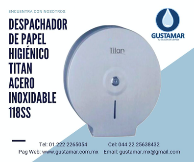 DISPENSADORES  DE PAPEL HIGIÉNICO DE ACERO INOXIDABLE TITAN