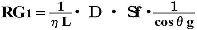 発電機出力係数(RG)の算出式