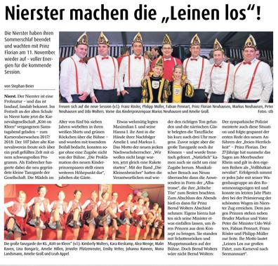 Meerbuscher Nachrichten 15.11.2017