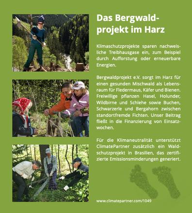 mueden.de, Verpackung, Bild mit Text Bergwaldprojekt