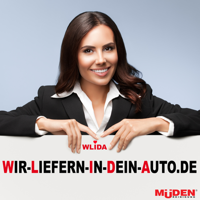 mueden.de, Lieferservice, wir liefern in dein auto, Bild mit Frau.
